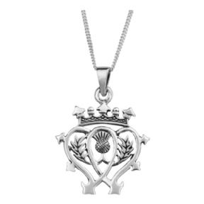 Scottish Luckenbooth Silver Pendant 0492